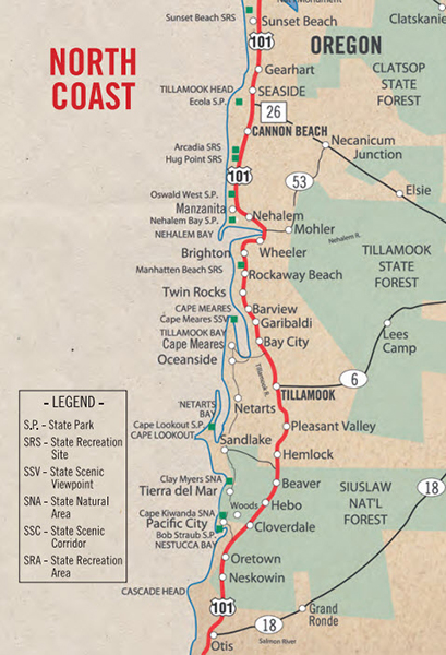 North Coast Map Jpeg